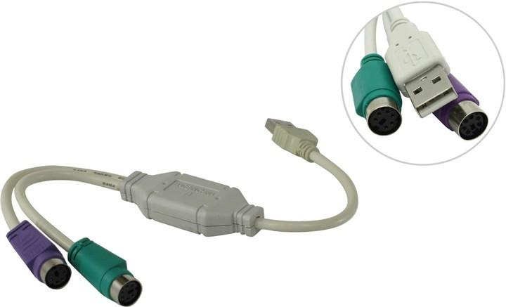Аксессуар VCOM USB A - PS/2 VUS7057