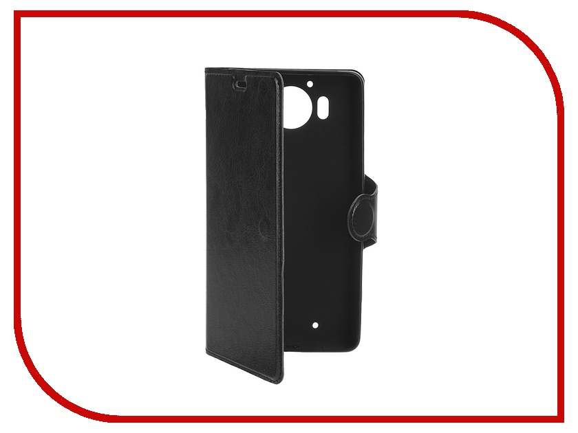 Аксессуар Чехол Microsoft Lumia 950 Red Line Book Type Sleek Black чехол книжка red line book для microsoft lumia 950