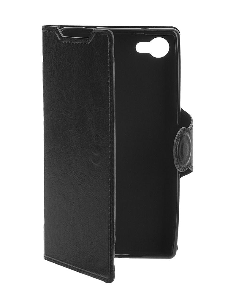 Аксессуар Чехол Sony Xperia Z5 Compact Red Line Book Type Sleek Black<br>