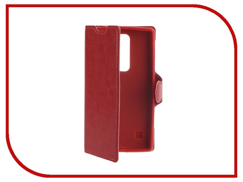 Аксессуар Чехол LG Spirit Red Line Book Type Sleek Red<br>