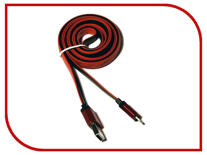Аксессуар KS-is Lightning 1m для iPhone/iPad/iPod Black-Red KS-283B-R<br>