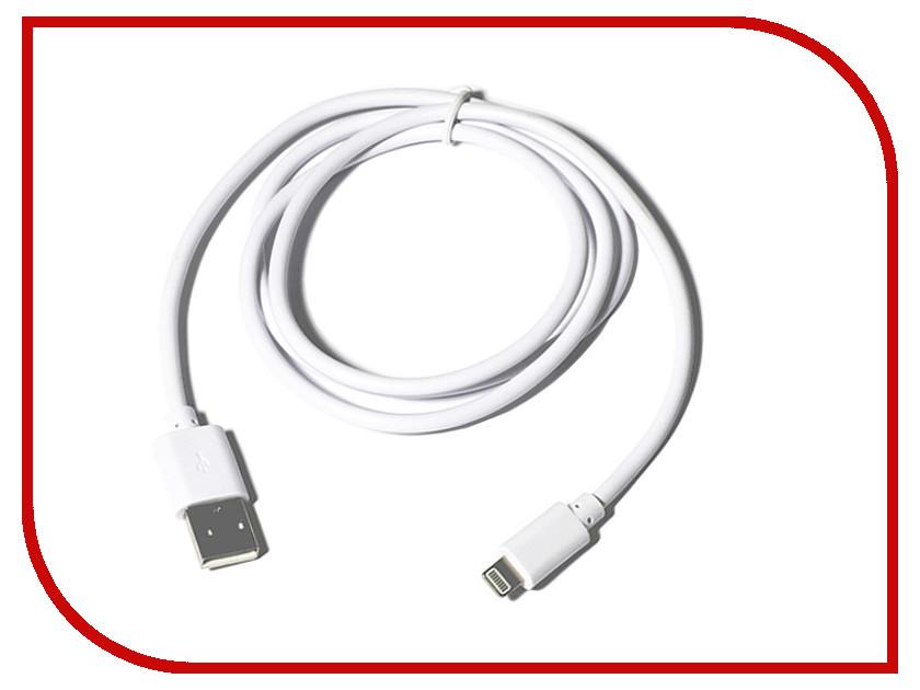 Аксессуар KS-is Lightning 1m для iPhone/iPad/iPod White KS-284W<br>