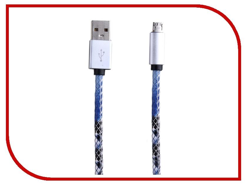 Аксессуар Activ USB - micro USB Leather Blue 51581<br>