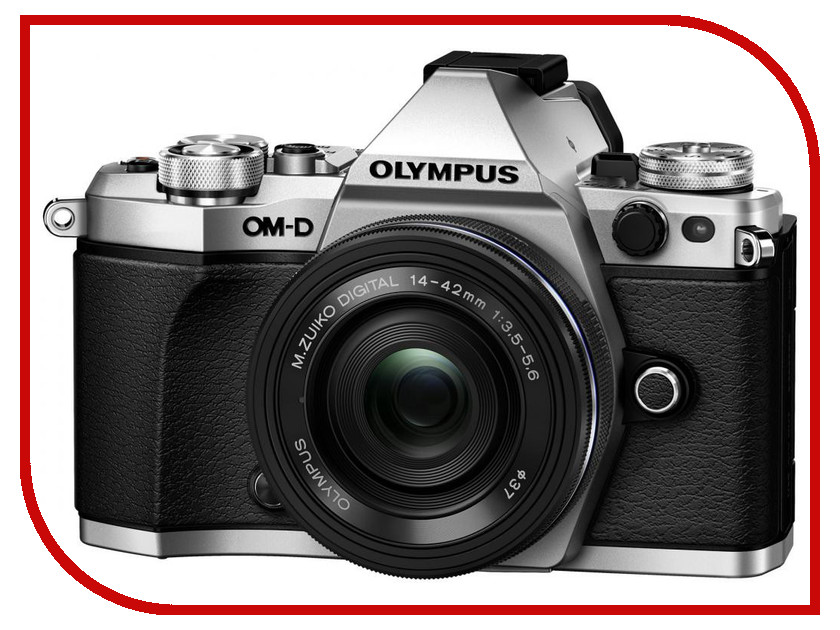 Фотоаппарат Olympus OM-D E-M5 Mark II Kit 14-42 mm EZ Silver-Black цифровой фотоаппарат olympus om d e m5 mark ii kit 14 42 mm ez silver black