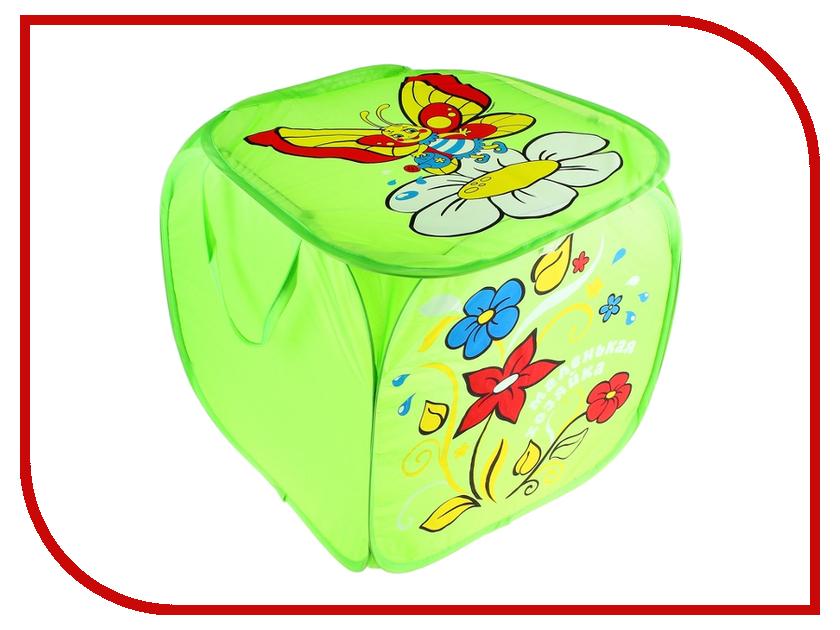 Корзина для игрушек СИМА-ЛЕНД Цветы и бабочка 606922
