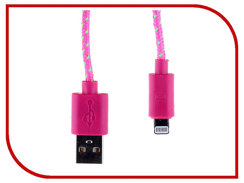 Аксессуар Glossar USB A - APPLE Lightning CORD-1 Rose 33938