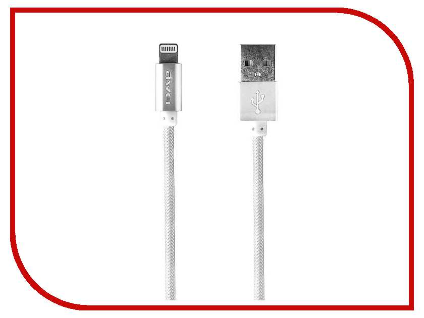 Аксессуар Awei USB A - APPLE Lightning CL-910 1m White 52042<br>