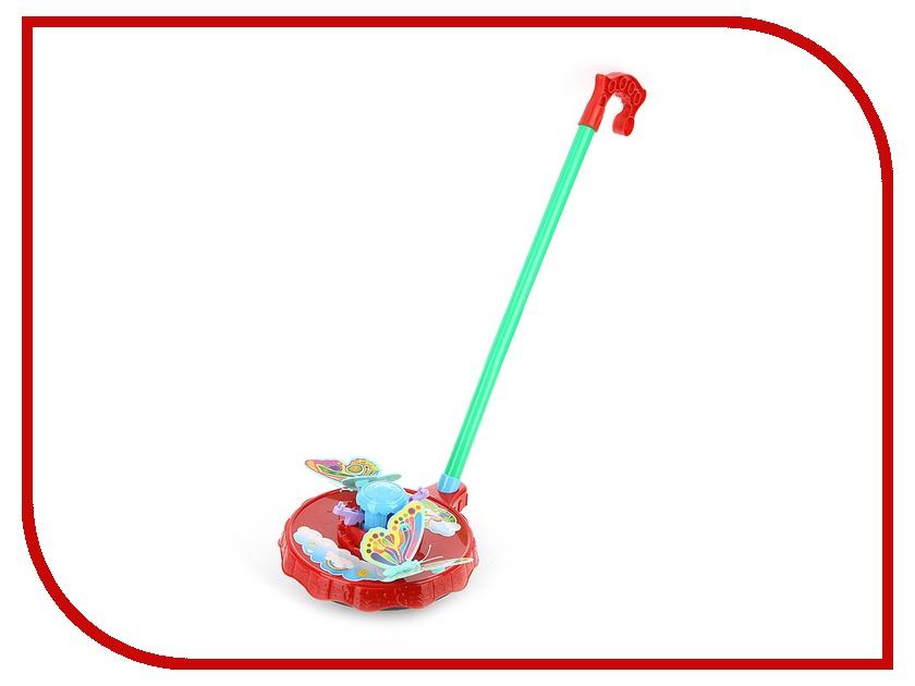 Каталка Shantou Gepai / Наша игрушка Бабочки с ручкой 42088 игрушка shantou gepai домик 632804