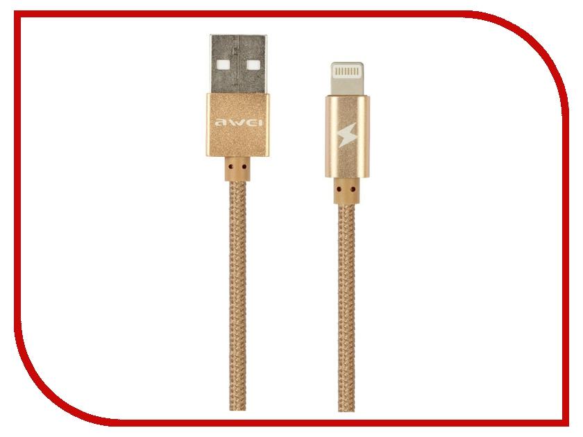 Аксессуар Awei USB A - APPLE Lightning CL-300 1m Gold 52046<br>