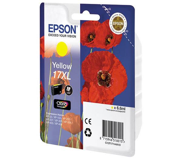 Картридж Epson T1714 Yellow C13T17144A10<br>