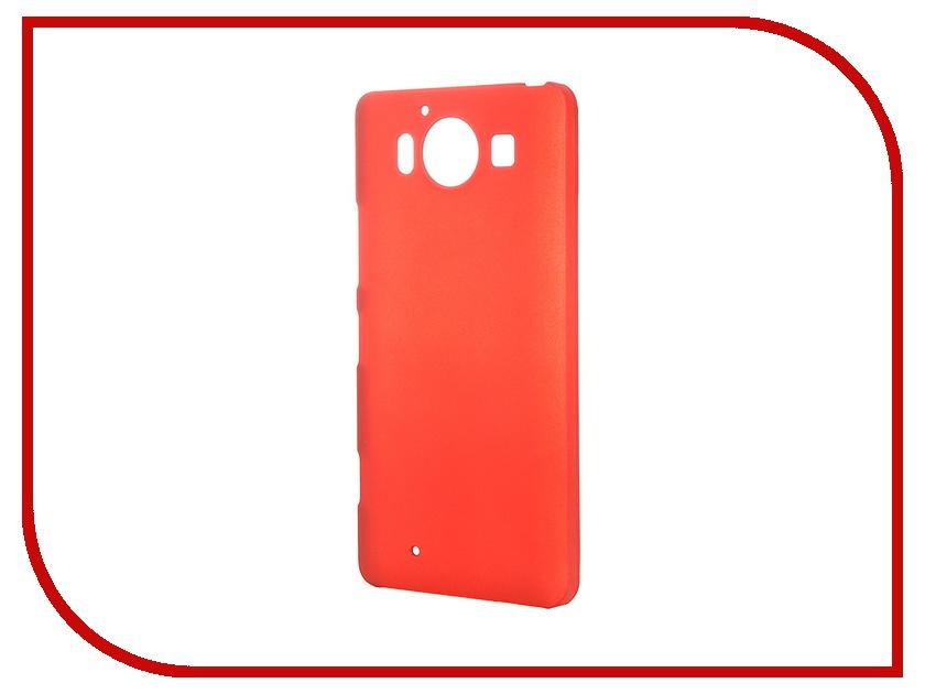 Аксессуар Чехол-накладка Microsoft 950 SkinBox 4People Red T-S-M950-002 + защитная пленка