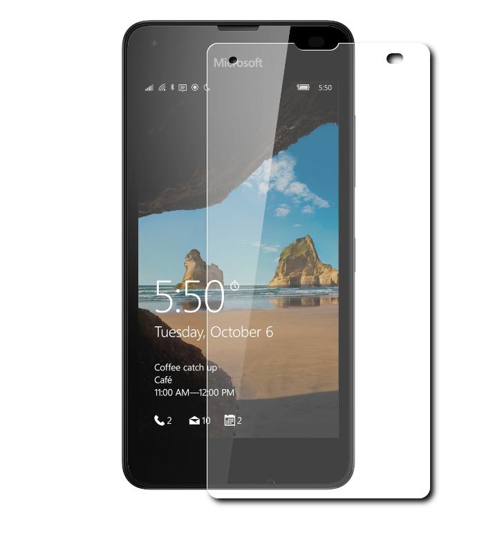 Аксессуар Защитное стекло Microsoft Lumia 550 0.3mm 2.5D SkinBox Glossy SP-194<br>