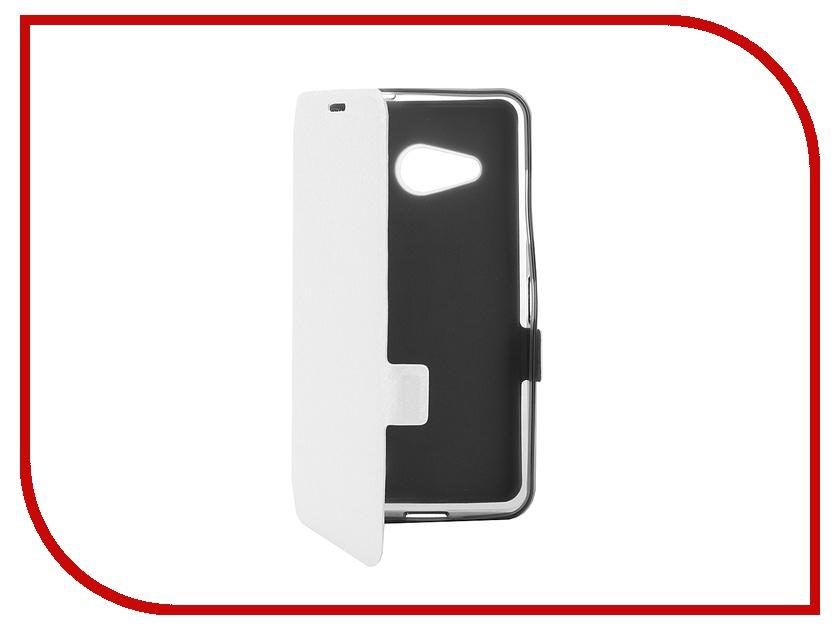 Аксессуар Чехол-книжка Microsoft 550 SkinBox Prime Book White T-P-M550-05<br>