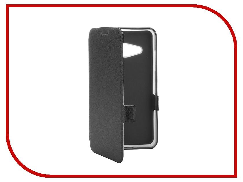 Аксессуар Чехол-книжка Microsoft 550 SkinBox Prime Book Black T-P-M550-05