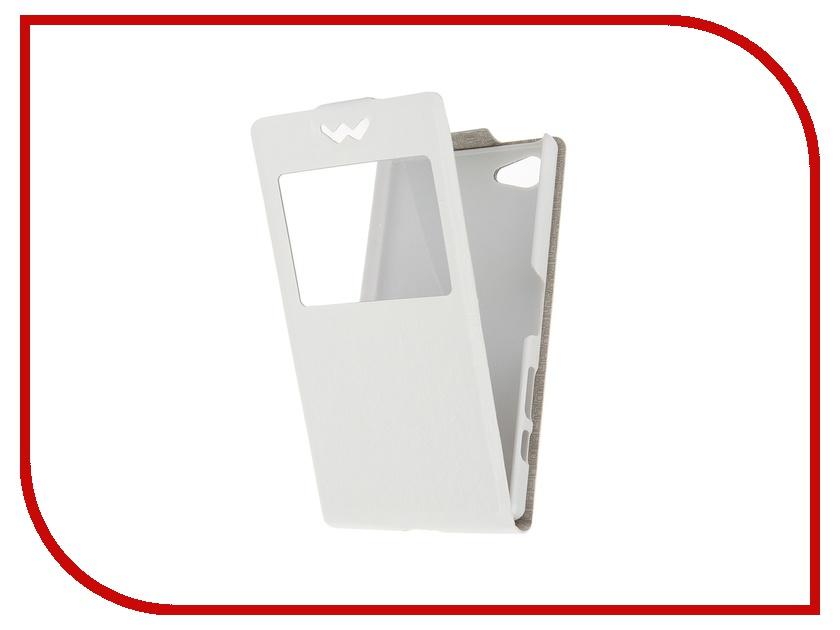 Аксессуар Флип-чехол SkinBox for Sony Xperia Z5 Compact Slim AW White T-F-SXZ5C-001<br>