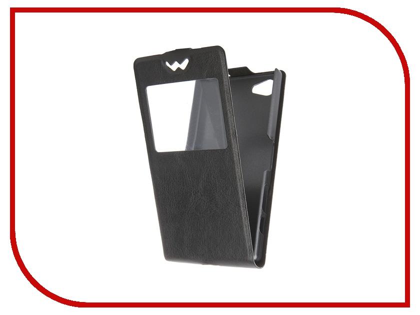 ��������� ����-����� SkinBox for Sony Xperia Z5 Compact Slim AW Black T-F-SXZ5C-001