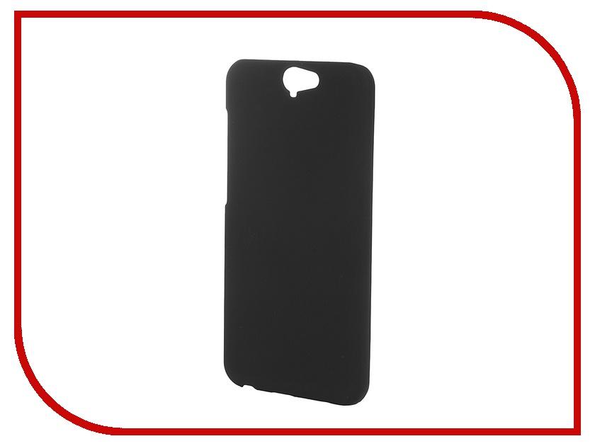 Аксессуар Чехол-накладка HTC One A9 SkinBox 4People Black T-S-HOA9-002 + защитная пленка<br>
