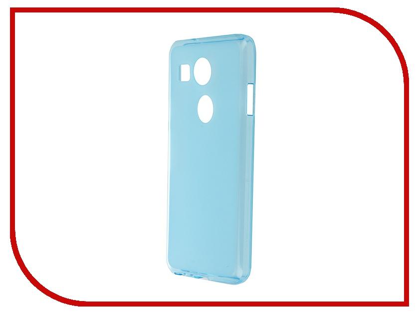 Аксессуар Чехол-накладка LG Nexus 5X SkinBox Sheild Silicone Blue T-S-LN5X-005<br>