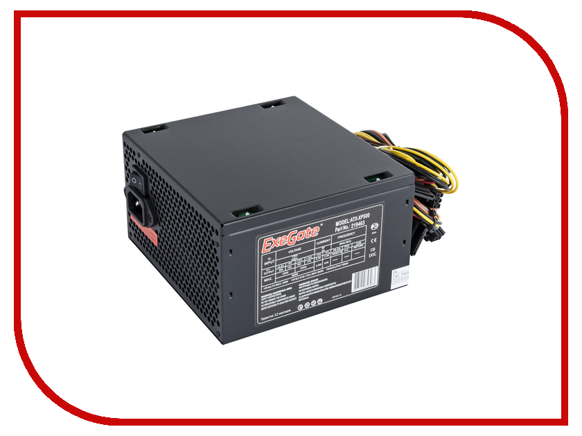 Блок питания ExeGate ATX-XP500 500W Black<br>