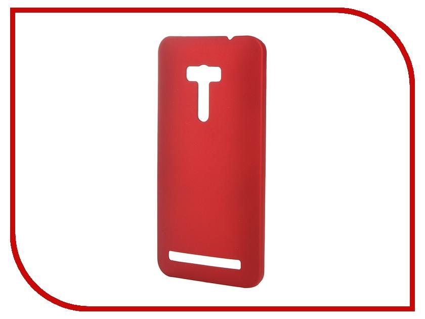 Аксессуар Чехол-накладка ASUS ZenFone Selfie ZD551KL SkinBox 4People Red T-S-AZS-002 + защитная пленка<br>