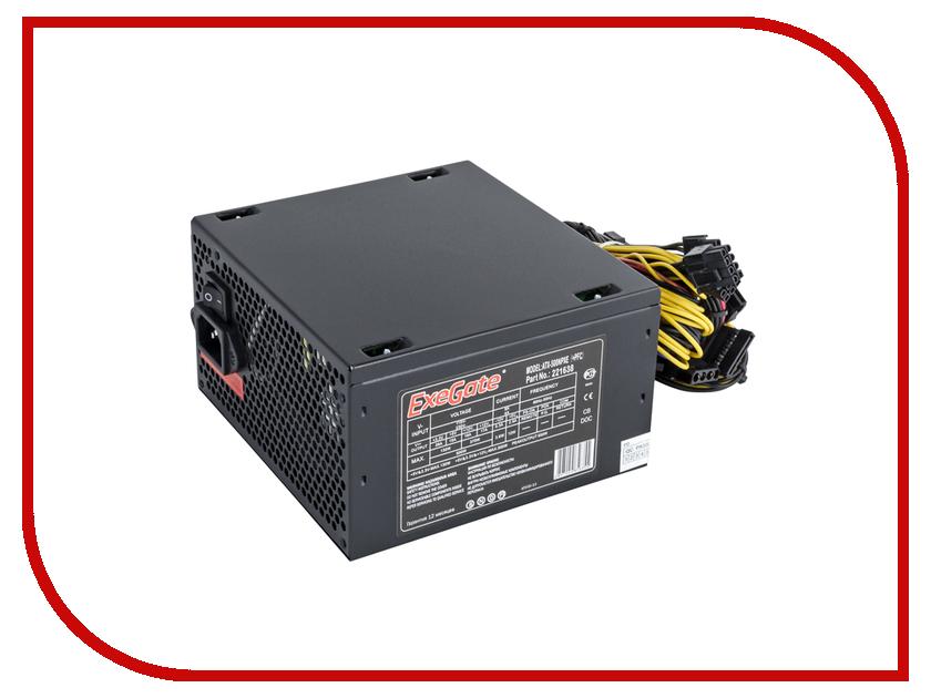 Блок питания ExeGate ATX-500NPXE+PFC 500W Black
