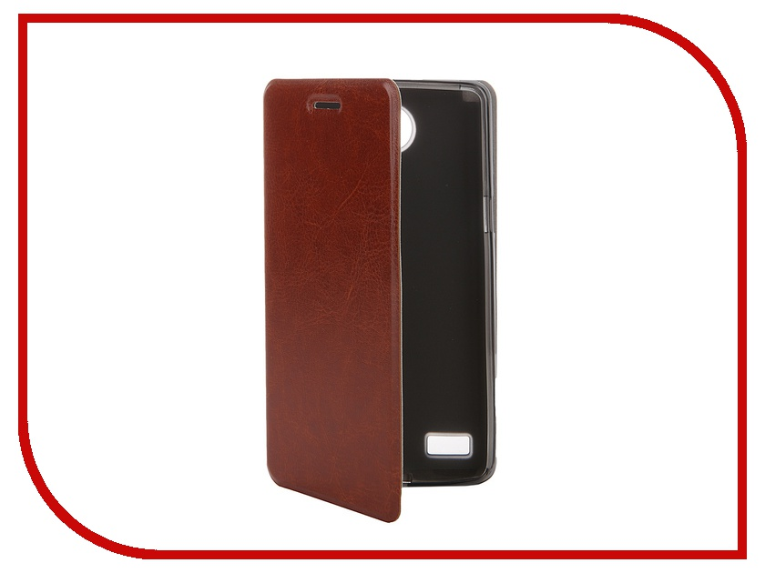 Аксессуар Чехол LG Max L Bello 2 SkinBox Lux Brown T-S-LB2-003<br>