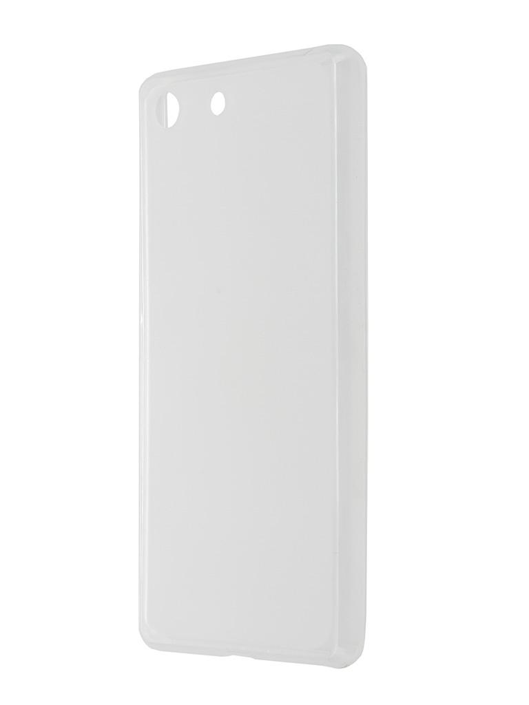 Аксессуар Чехол-накладка Sony Xperia M5 SkinBox Sheild Silicone Transparent T-S-SXM5-005<br>
