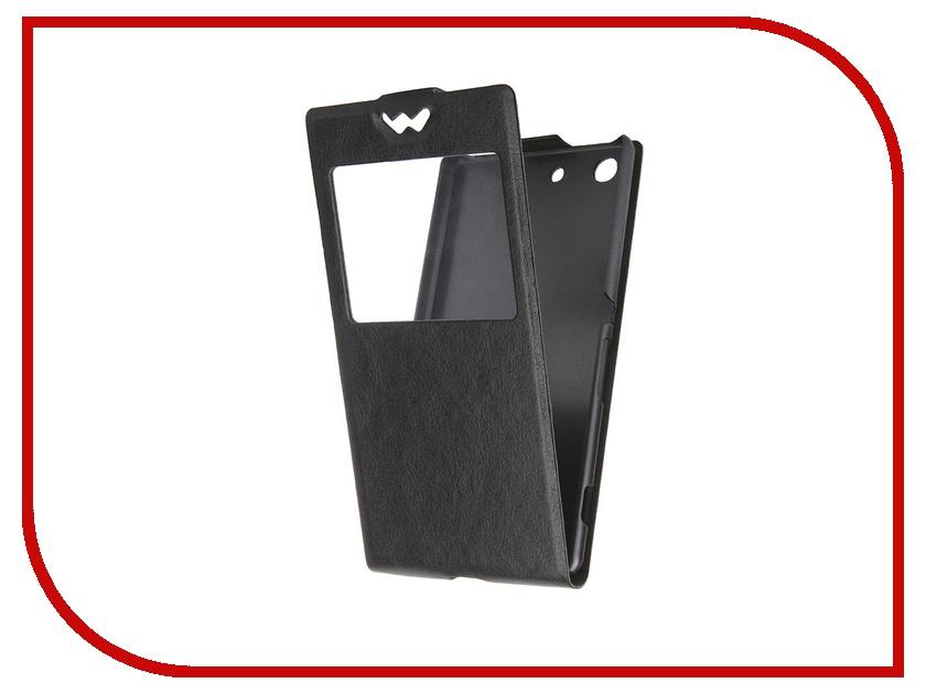 Аксессуар Чехол-флип Sony Xperia M5 SkinBox Slim AW Black T-F-SXM5-001