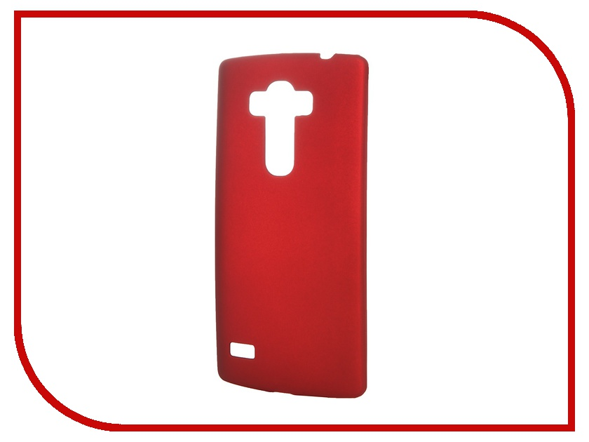 Аксессуар Чехол-накладка LG G4S SkinBox 4People Red T-S-LG4S-002 + защитная пленка