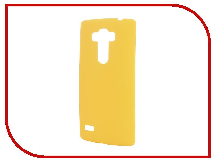 Аксессуар Чехол-накладка LG G4S SkinBox 4People Yellow T-S-LG4S-002 + защитная пленка<br>