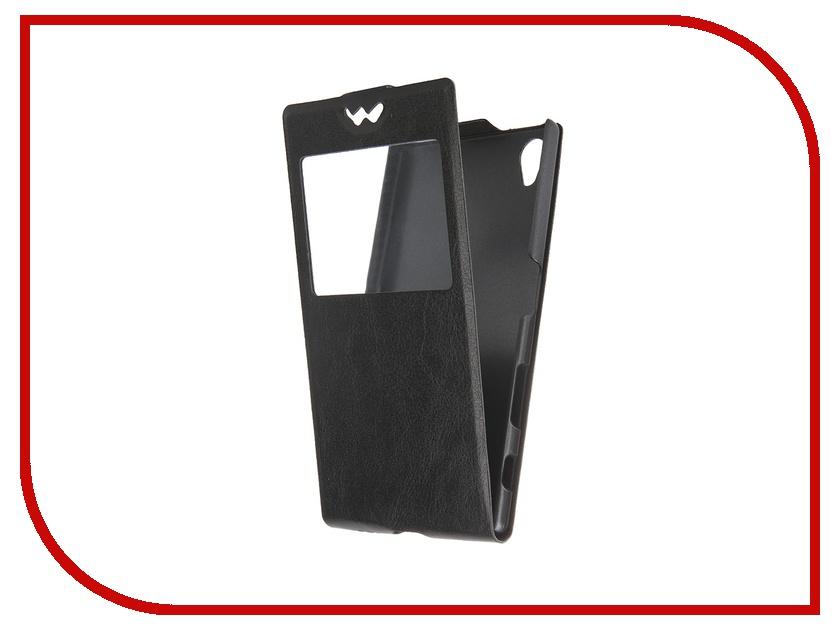 Аксессуар Чехол-флип Sony Xperia Z5 SkinBox Slim AW Black T-F-SXZ5-001<br>