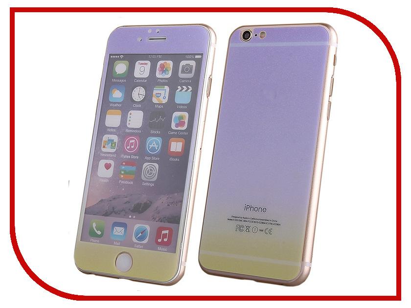 Аксессуар Защитное стекло Activ Glass Gradient Front & Back для APPLE iPhone 6 Violet-Yellow 50991