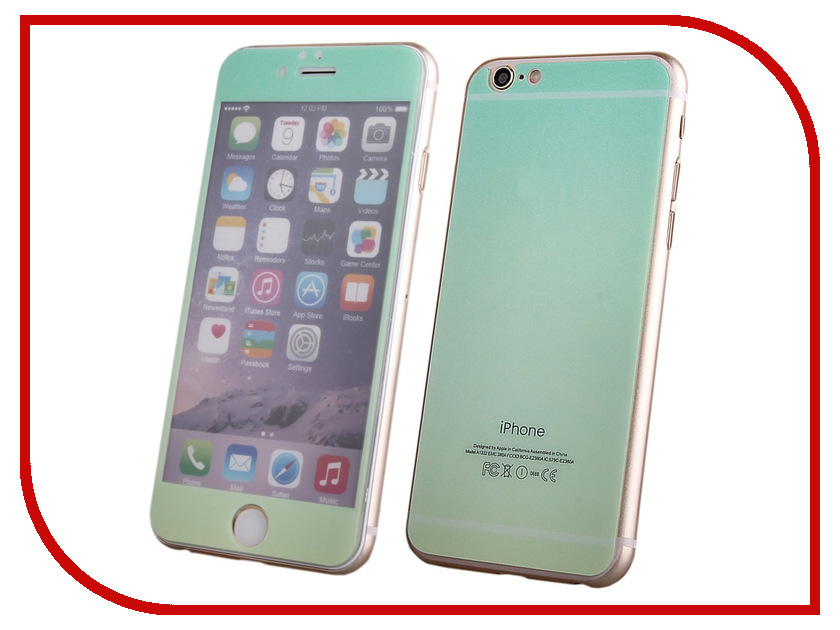 Аксессуар Защитное стекло Activ Glass Gradient Front &amp; Back для APPLE iPhone 6 Green-Yellow 50989<br>