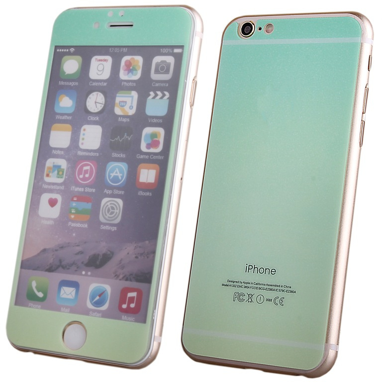 Аксессуар Защитное стекло Activ Glass Gradient Front &amp; Back для APPLE iPhone 6 Green-Yellow 50989<br>