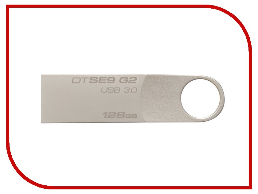 USB Flash Drive 128Gb - Kingston DataTraveler SE9 G2 USB 3.0 Metal DTSE9G2/128GB