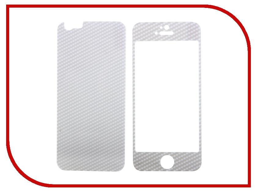 Аксессуар Защитное стекло Activ Glass Carbon Front &amp; Back для iPhone 6 White 55178<br>