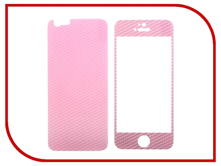 ��������� �������� ������ Activ Glass Carbon Front & Back ��� iPhone 6 Pink 55179