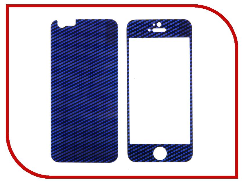 Аксессуар Защитное стекло Activ Glass Carbon Front &amp; Back для APPLE iPhone 6 Blue 55180<br>