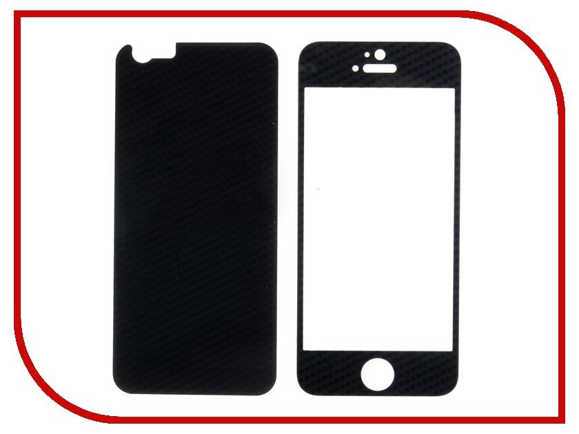 Аксессуар Защитное стекло Activ Glass Carbon Front &amp; Back для APPLE iPhone 6 Black<br>
