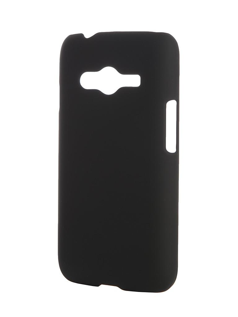 Аксессуар Чехол-накладка Samsung Galaxy G313H/318 Ace 4 SkinBox 4People Black T-S-SGG313H-002 + защитная пленка<br>