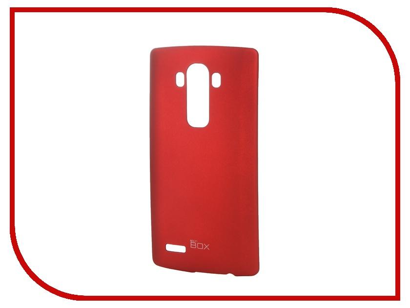 Аксессуар Чехол-накладка LG G4 SkinBox 4People Red T-S-LG4-002 + защитная пленка