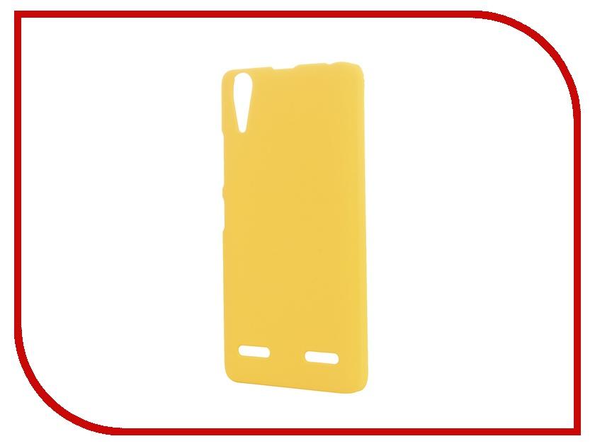 Аксессуар Чехол-накладка Lenovo A6000/6010 SkinBox 4People Yellow P-S-LA6000-002 + защитная пленка<br>