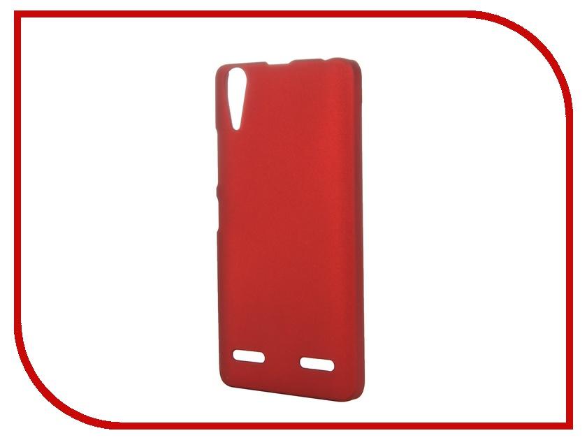 Аксессуар Чехол-накладка Lenovo A6000/6010 SkinBox 4People Red P-S-LA6000-002 + защитная пленка<br>