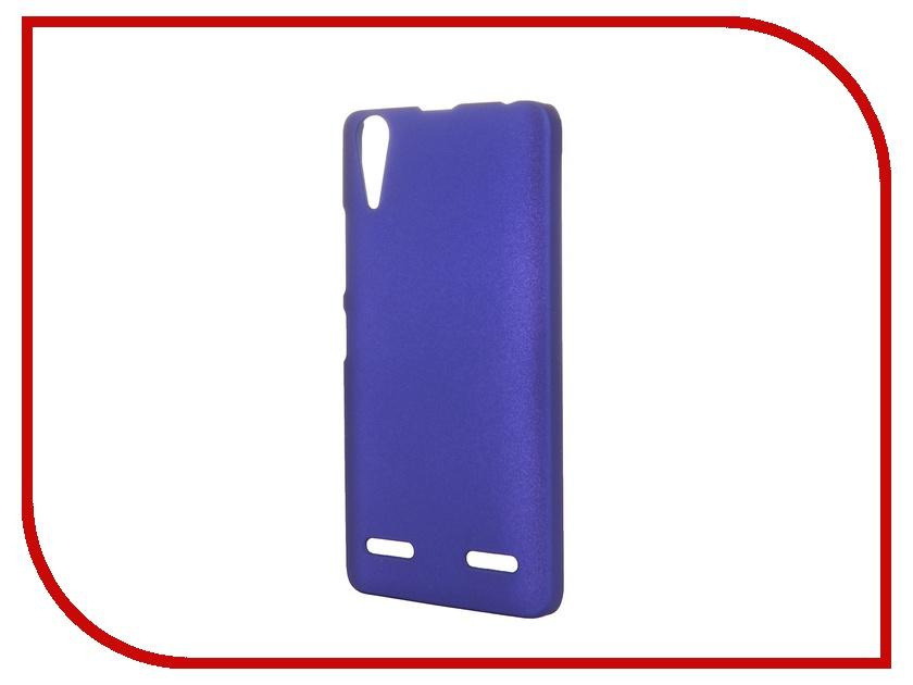 Аксессуар Чехол-накладка Lenovo A6000/6010 SkinBox 4People Blue P-S-LA6000-002 + защитная пленка<br>