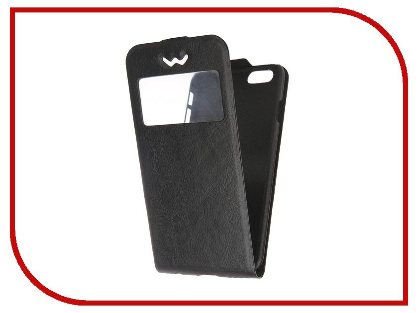 Аксессуар Чехол-флип SkinBox Slim AW для iPhone 6 Black T-F-Aiphone6-001<br>