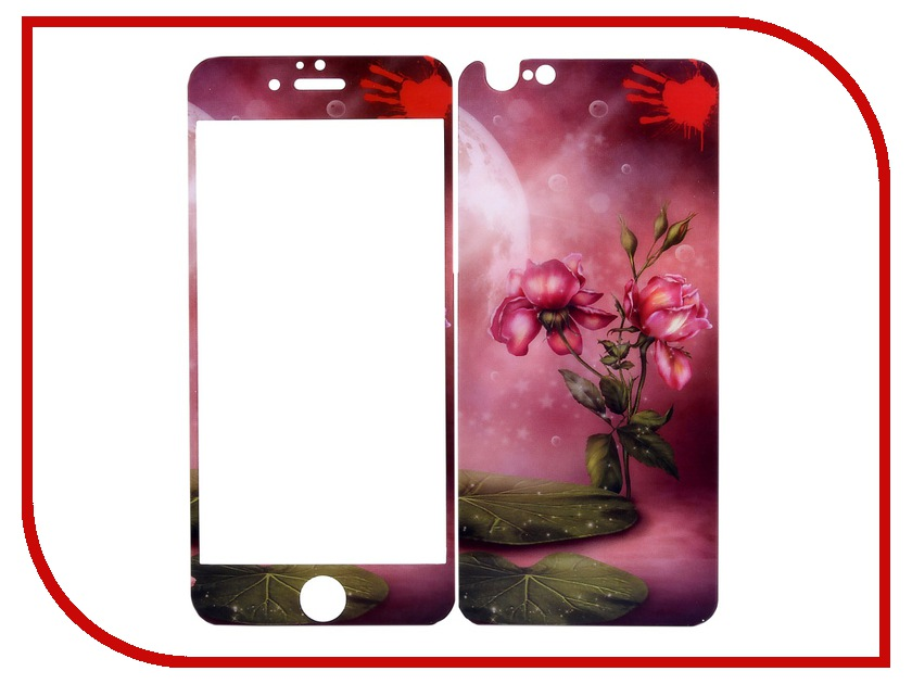 Аксессуар Защитное стекло Activ Glass c принтом для iPhone 6 6-004 52083<br>