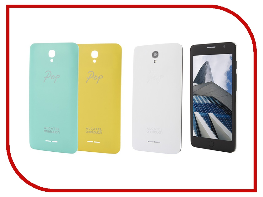 Сотовый телефон Alcatel OneTouch 5070D POP Star White Yellow Green сотовый телефон alcatel onetouch 5070d pop star soft slate silver gold