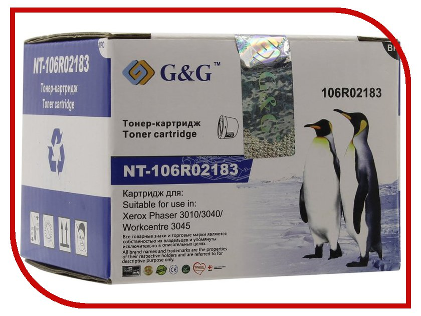 Картридж G&G NT-106R02183 for Xerox Phaser 3010/3040 WorkCentre 3045