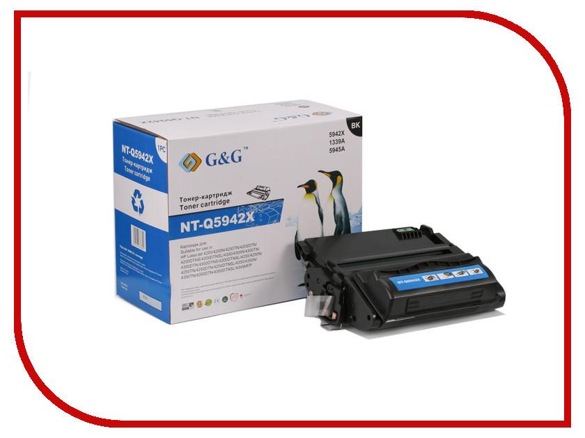 Картридж G&G NT-Q5942X for HP LaserJet 4200/4250/4300/4350/4345 картридж sakura black для laserjet 4200 4300 4240 4240n 4250 4350 4345 series