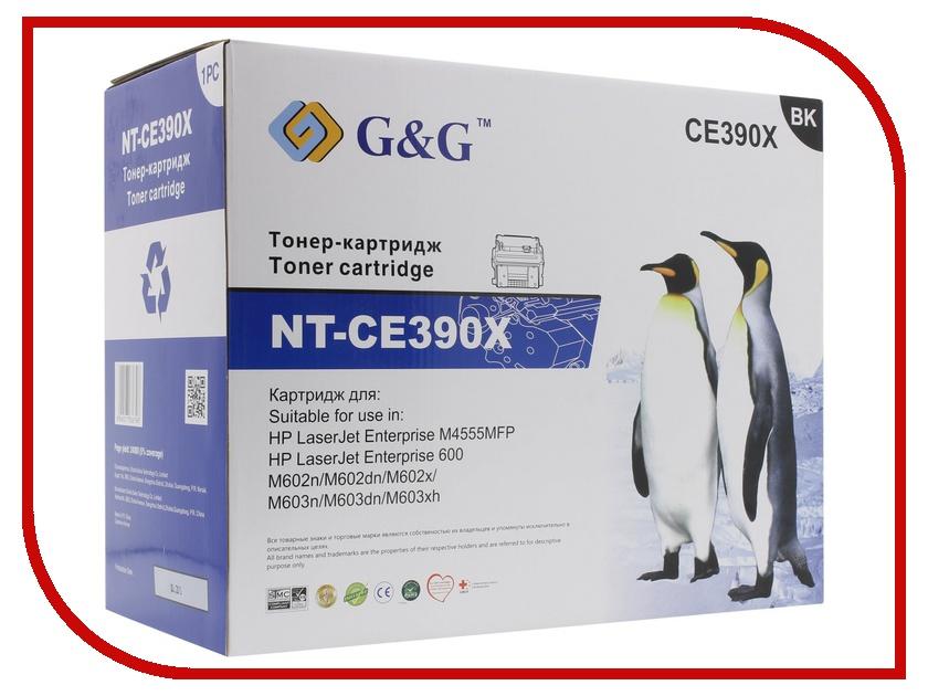 Картридж G&G NT-CE390X for HP LaserJet Enterprise 600 M602/603 M4555MFP